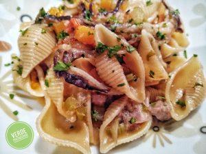 Pasta Risottata Radicchio e Salsiccia